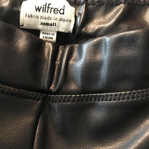 Wilfred Pants - Aritizia Wilfred Rebelle Faux Leather Legging XS